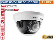 TELECAMERA DOME HD TVI HIKVISION TURBO HD 2.1MP 1080P 3.6MM  VISIONE NOTTURNA