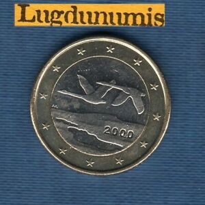Finlande 2000 1 euro Deux Cygnes SPL FDC Provenant de rouleau
