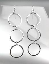 CHIC Lightweight Artisanal Urban Anthropologie Silver Rings Dangle Earrings 13S