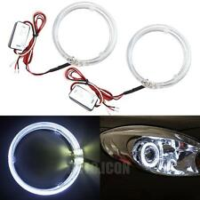 "2pcs White LED Guide Angel Eyes Halo Rings For 3.0"" HID Headlights Mods DIY"