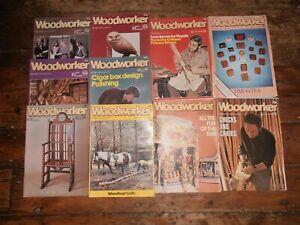 Bundle 10 Vintage Woodworker magazines 1981 Feb-Sept, & Nov-Dec. Good condition.
