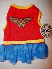 DC Comic Wonder Woman S Costume Pet Dog Cat Red Dress Tutu One Piece Clothing