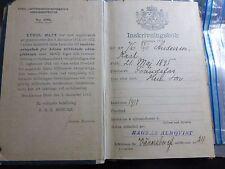 VINTAGE MILITARY 1915 ENROLLMENT BOOK SWEDEN SWEDISH