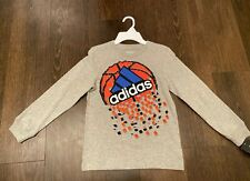 Boy's Adidas The Go-To Tee Long Sleeve T-Shirt - Gray - Size 7X - NWT