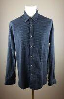 SCOTCH & SODA ORIGINAL CLASSIC Herren Blau Hemd Gr. XL Langarm Kragen Shirt