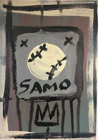 Jean-Michel Basquiat * Untitled * SAMO Postcard Style acrylic painting