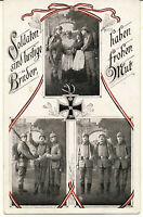 AK Erster Weltkrieg, Soldaten sind lustige Brüder, gel.12.10.1918 nach Judenbach