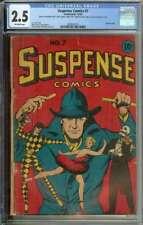Suspense Comics #7 CGC 2.5 L.B. Cole Cover Art