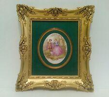 Vintage Victorian Style Frame Fragonard Porcelain Cameo Picture