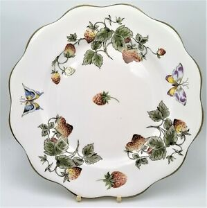 """Coalport Strawberry Wavy Edge Dinner Plate 10.5"""" Approx Multiple Available"""