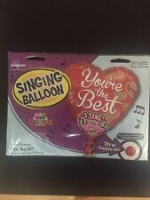 """Happy Valentine's Day 29"""" Singing Balloon, Sings """"The Best'"""