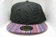 DC SHOES New Era 59FIFTY COVERAGE II Hat Black Bill Fitted Cap 7 3/8 RARE 5950