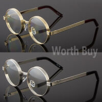 Men Women Clear Round Steampunk Retro Fashion Eye Glasses Hipster Frame Designer