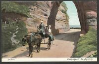 Postcard Cushendall in County Antrim Northern Ireland early view of Red Arch