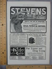 Rare Orig VTG 1904 Stevens Arms Chase & Baker Piano Player Advertising Art Print