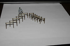 O scale Construction sawhorse or baricades, use with MTH Lionel Weaver Trains