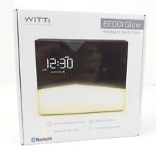 WITTI BEDDI Glow Intelligent Alarm Clock with Wake Up Light Wireless Speaker New