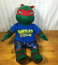 "17"" Build A Bear Teenage Mutant Ninja Turtles TMNT Stuffed Plush Raphael Pajamas"