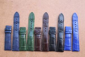 20mm/16mm Genuine Crocodile Alligator Skin Leather Watch Strap Band