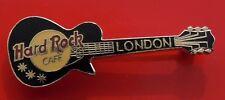 Hard Rock Cafe Pin Badge London England Black Electric Guitar