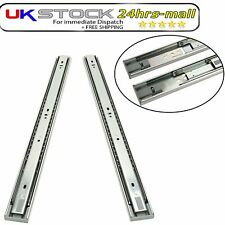 Pairs Cabinet Drawer Runners Slides Groove Ball Bearing Push to Open 350mm-550mm