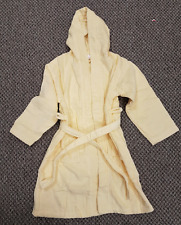 Child's age 7-8 Yellow Towelled Dressing Gown Unisex 100% Cotton Night Bath Robe