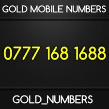 GOLD CHINESE LUCKY EASY VIP 168168 BUSINESS MOBILE PHONE NUMBER SIM 07771681688