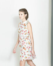 Zara Casual Floral Dresses Collar for Women