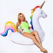 Giant Inflatable float Unicorn float, swim pool ring 58*36*36'', cute tube
