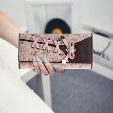 Fashion Leather Bifold Trifold Wallet Clutch Card Holder Purse Lady Long Handbag