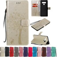 Wallet Folio Leather Case For LG Q Stylo 4 Stylo5 6 Cat&Tree Folding Stand Cover