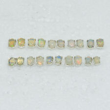 WHOLESALE 10PAIR 925 SOLID STERLING SILVER NATURAL ETHIOPIAN OPAL EARRING LOT.
