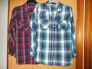 2 x Checked Shirts Size 20 Worn Once Bought From Evans