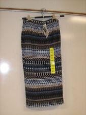 Matty M Midi Skirt - Blue Multicolor Print - Small - New w/ Tags