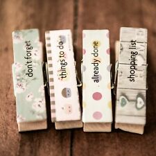 4 Strong Funny Wooden Fridge Magnet Magnetic Shabby Chic Memo Board Pegs Kids