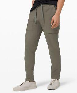 Lululemon Men's Bowline Pant Utilitech GRSG Grey Sage NEW Size Large
