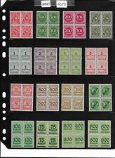 #4670  Mint Unused stamp blocks X16  /   Inflation era / Pre Third Reich Germany