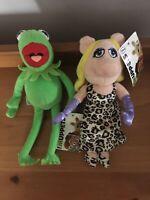 "Posh Paws Muppets Kermit & Miss Piggy Disney 13"" Tall"