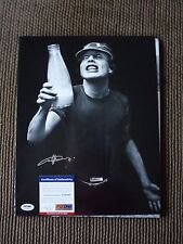 Angus Young AC/DC Vintage Live Signed Autograph 11x14 Photo PSA Certified #20 f1