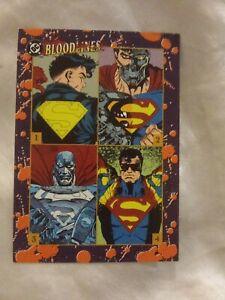 1993 SKYBOX DC BLOODLINES MAN OF STEEL SUPERMAN