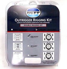 Rupp Outrigger Double Rigging Kit CA-0026 w/ Nok-Outs Release Clips - Black Mono