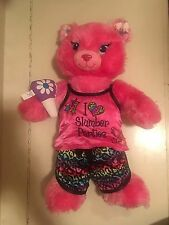 Build A Bear Pink CAT Kitten Plush I LOVE SLUMBER PARTIES Pajama