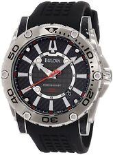 Gents Bulova  Watch 96B155 PRECISIONIST Black rubber strap Watch RRP £349