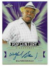 Wilford Brimley Leaf Pop Century Auto Card SP /15 Autograph STAR WARS EWOKS NOA