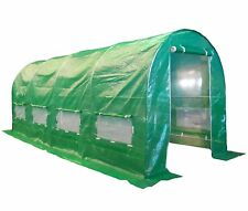Large Greenhouse Polytunnel Windows 5 x2x2m Powder Coated Frame Garden Patio Use