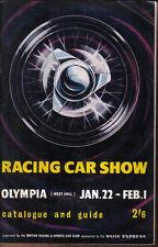 Racing Car Show 5ª Original Catálogo & Show guía Olympia Jan 1964