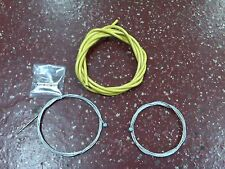 Bicycle Bike Brake Cable Set with inner wires & housing 1 front 1 rear Yellow