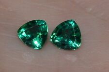 A Single 5mm Trillion Cut Genuine Enhanced Green Emerald!!!