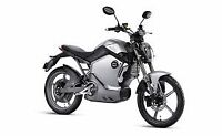 Super Soco TS1200R Silver Electric Moped Motorcycle Battery Powered LED Digital