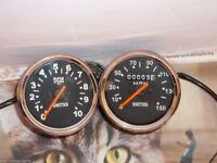 Triumph Norton BSA smiths replica speedometer  Tachometer (Set)
